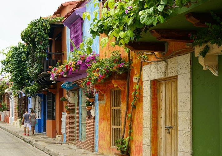 Colorful Cartagena Streets