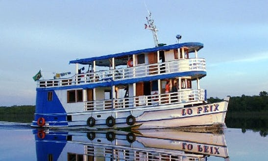Houseboat Rental For 10 People In Manaus, Brazil