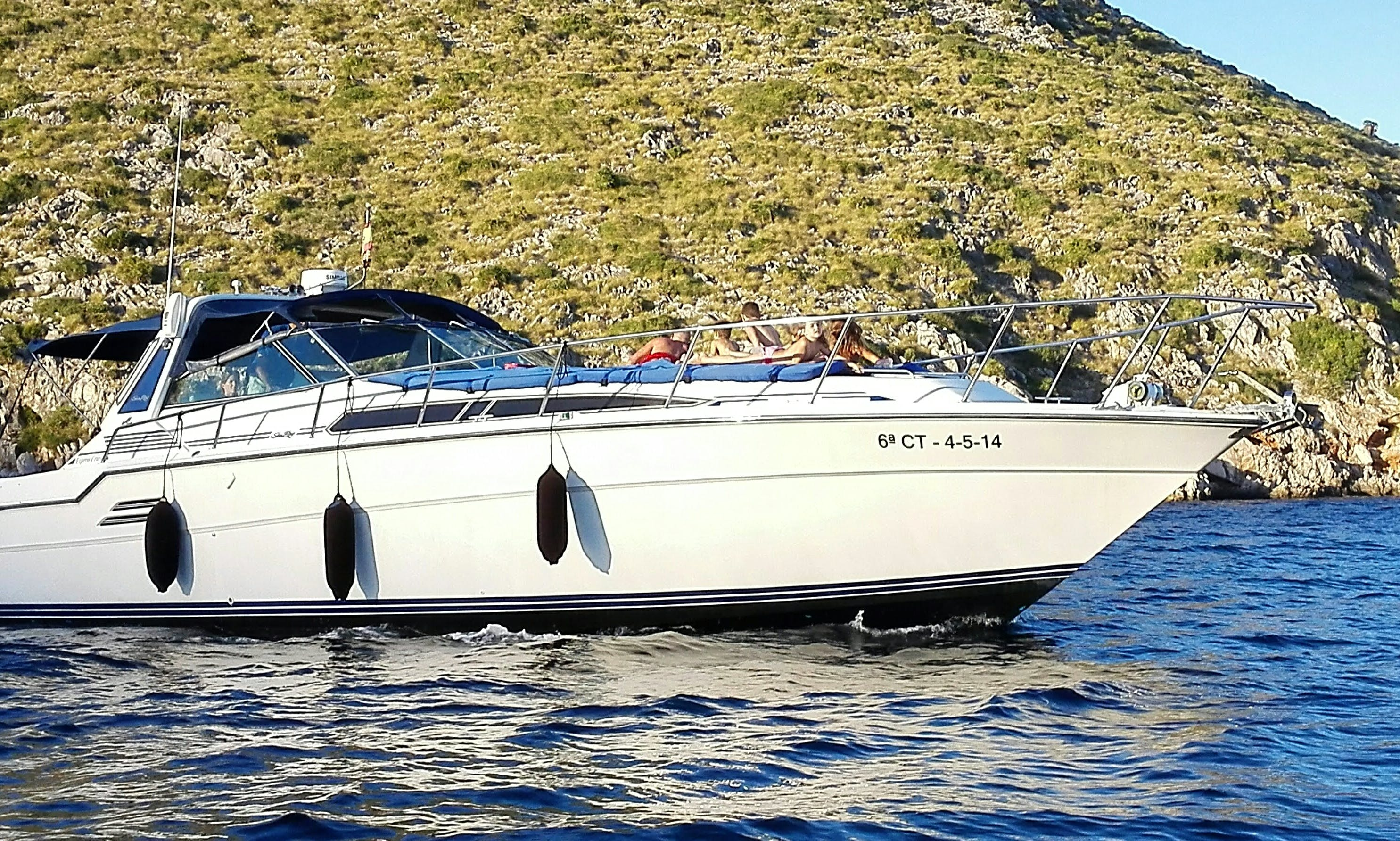 """Captained Charter on """"Perseo"""" Sea Ray 460 Express Cruiser in Pollença, Spain"""