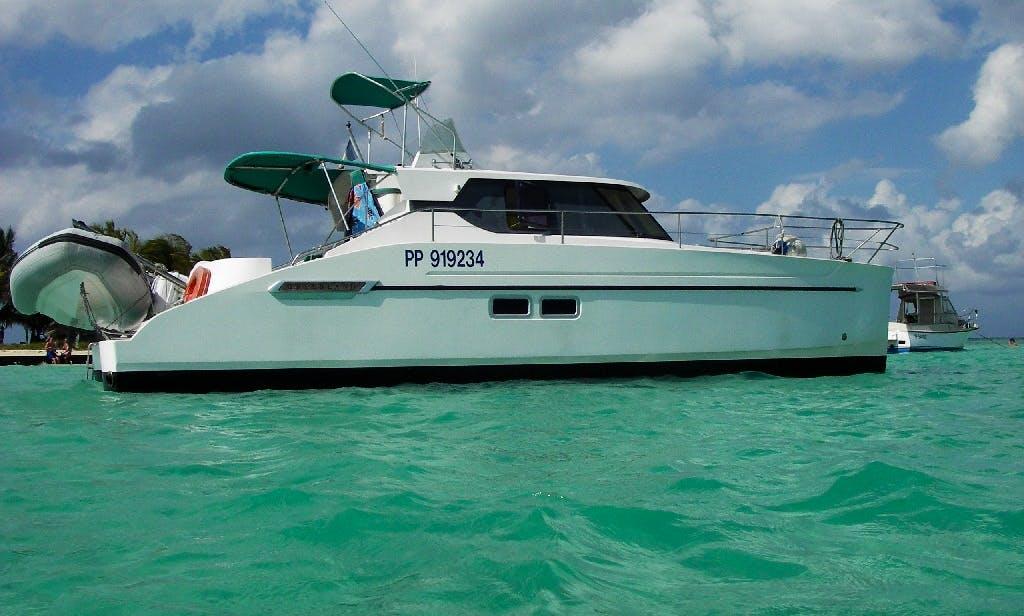 "Amazing Boating Trip in Pointe a Pitre, Guadeloupe on ""Cyrano"" Catamaran"