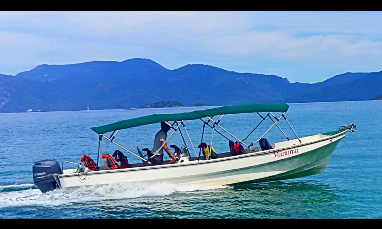 Taxi Boat Tour for 12 People to Ilha de Cataguás and ilha da Gipoia