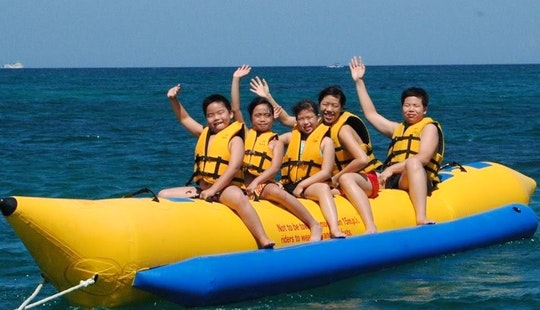 Awesome Banana Boat Ride Experience In Ngwesaung, Myanmar!