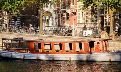 Rent an Electric Canal Boat Agatha for Up to 32 People in Amsterdam, Netherlands