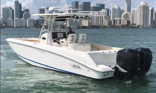 Book the Boston Whaler Center Console in Biscayne bay, Florida!