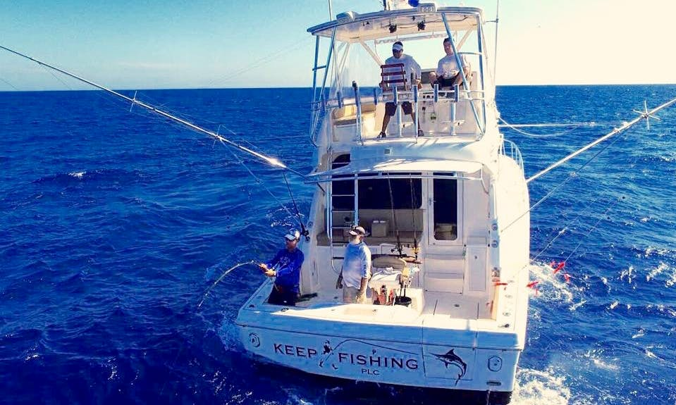 Enjoy Fishing in La Romana, Cap Cana or Santo Domingo in the Dominican Republic on Rampage 45 Sport Fisherman