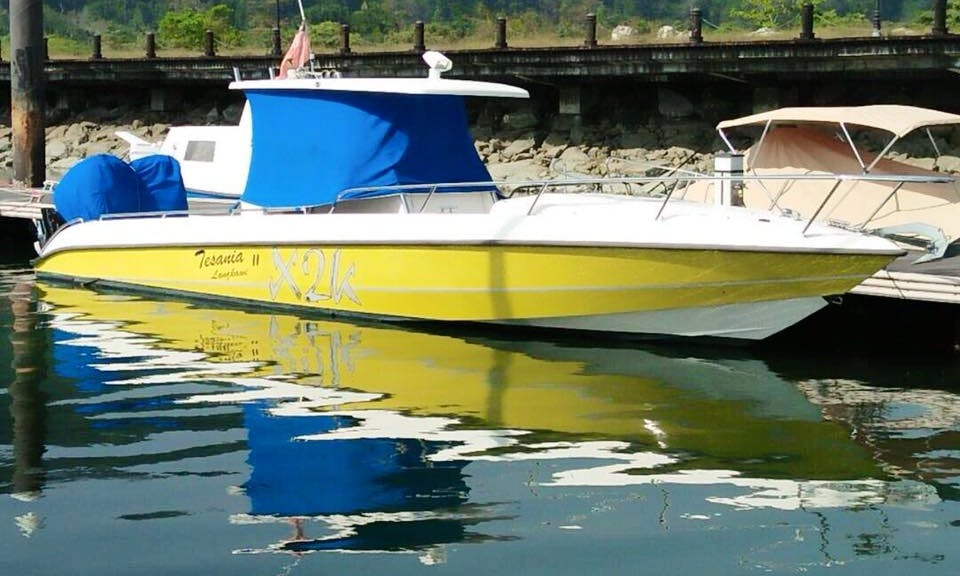 Get a great captained boat rental in Langkawi for up to 8 guests