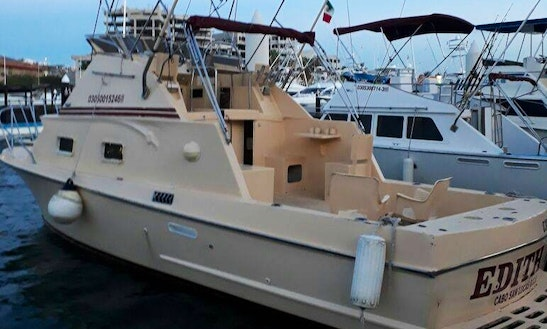 28 Ft Edith Fishing Boat Charter For 4 People In Cabo San Lucas, Mexico