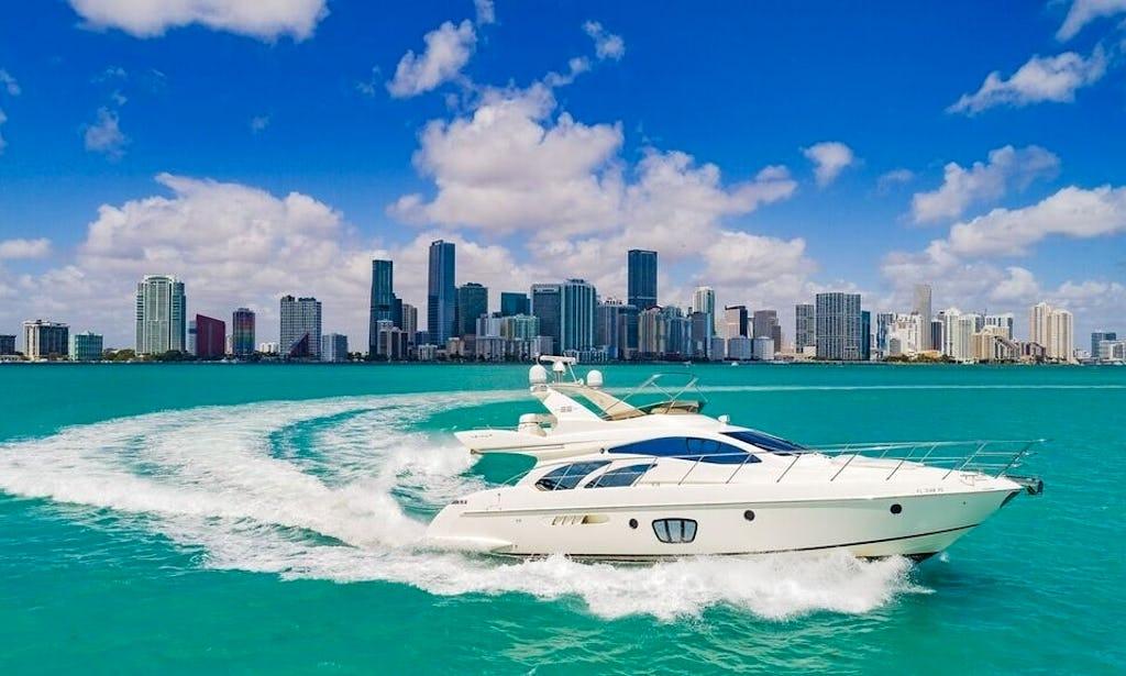 Yacht Charters Miami 55 Azimut Miami Florida Keys The Bahamas