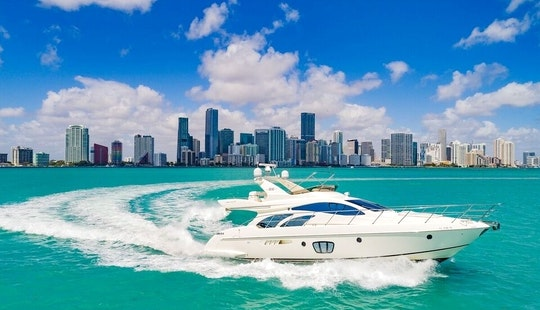 Yacht Charters Miami - 55' Azimut - Miami, Florida Keys, The Bahamas!