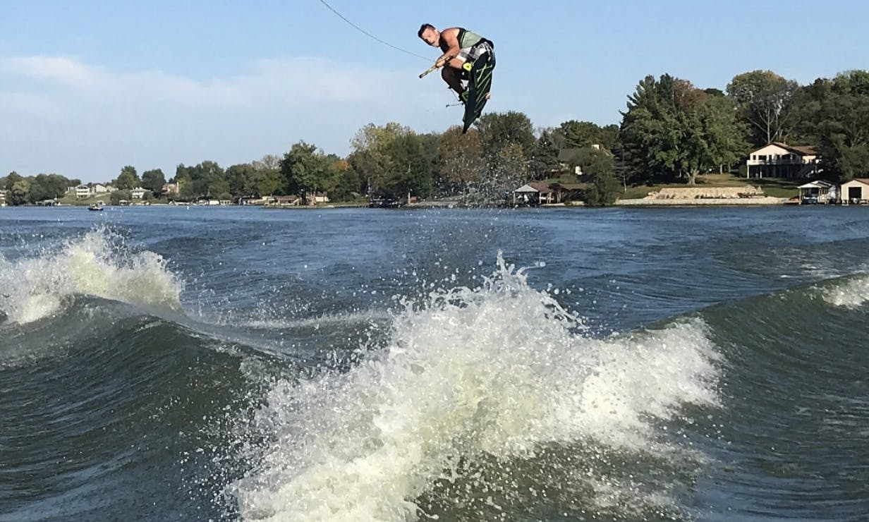 Rent the Fast and Gorgeous Axis Bowrider Wakeboat in Jamestown, Ohio