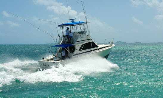 35ft. Fishing Boat Rental In Cancún