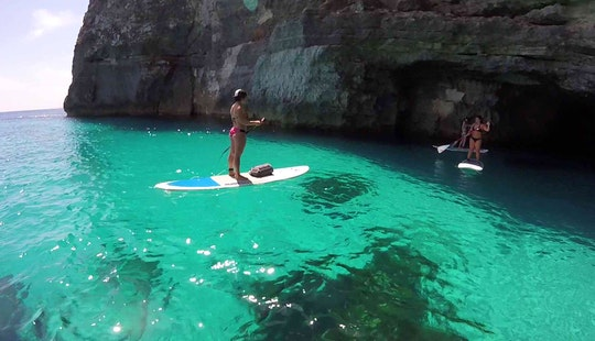 Stand Up Paddle Surfing Tours In Ghadira Bay And Other Locations Around Malta Malta