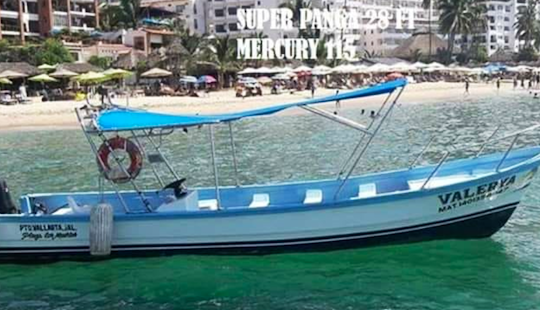 Rent A 28' Super Panga Center Console Fishing Boat For 4 People In Puerto Vallarta, Mexico