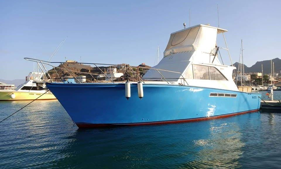 40 ft Pacemaker Fishing Boat Charter for 6 People in Mindelo, Cape Verde