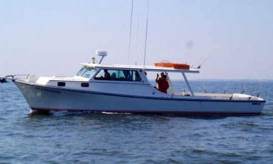 42' Phil Jones Trawler For Baltimore Maryland Fishing Charters With Capt Charlie