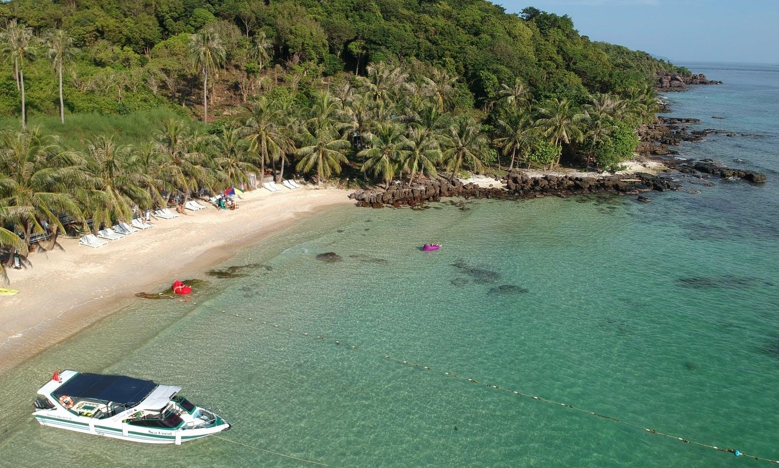 Cable car Thom island – Kho island – May Rut island – Buom island