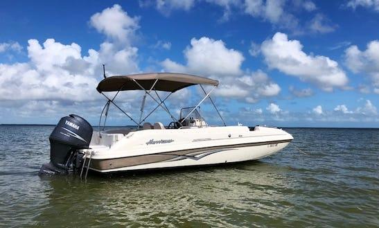 21ft Hurricane Deck Boat Rental In Key Largo