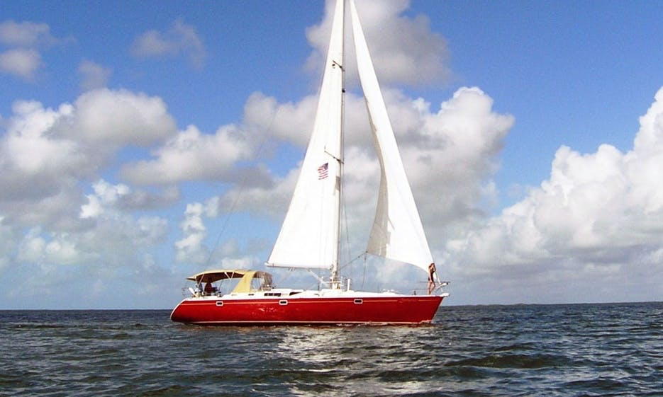 "Charter 50ft ""Zephyrus"" Sailboat In Key Largo, Florida"