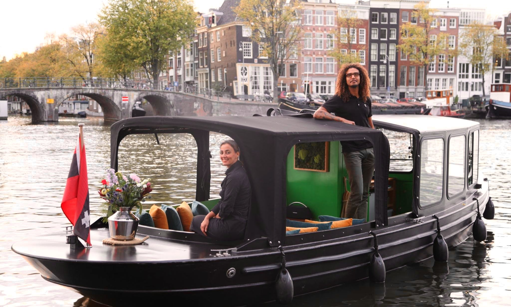 Hire a 12 Personprivate Boat With Captain and Enjoy Amsterdam Canal