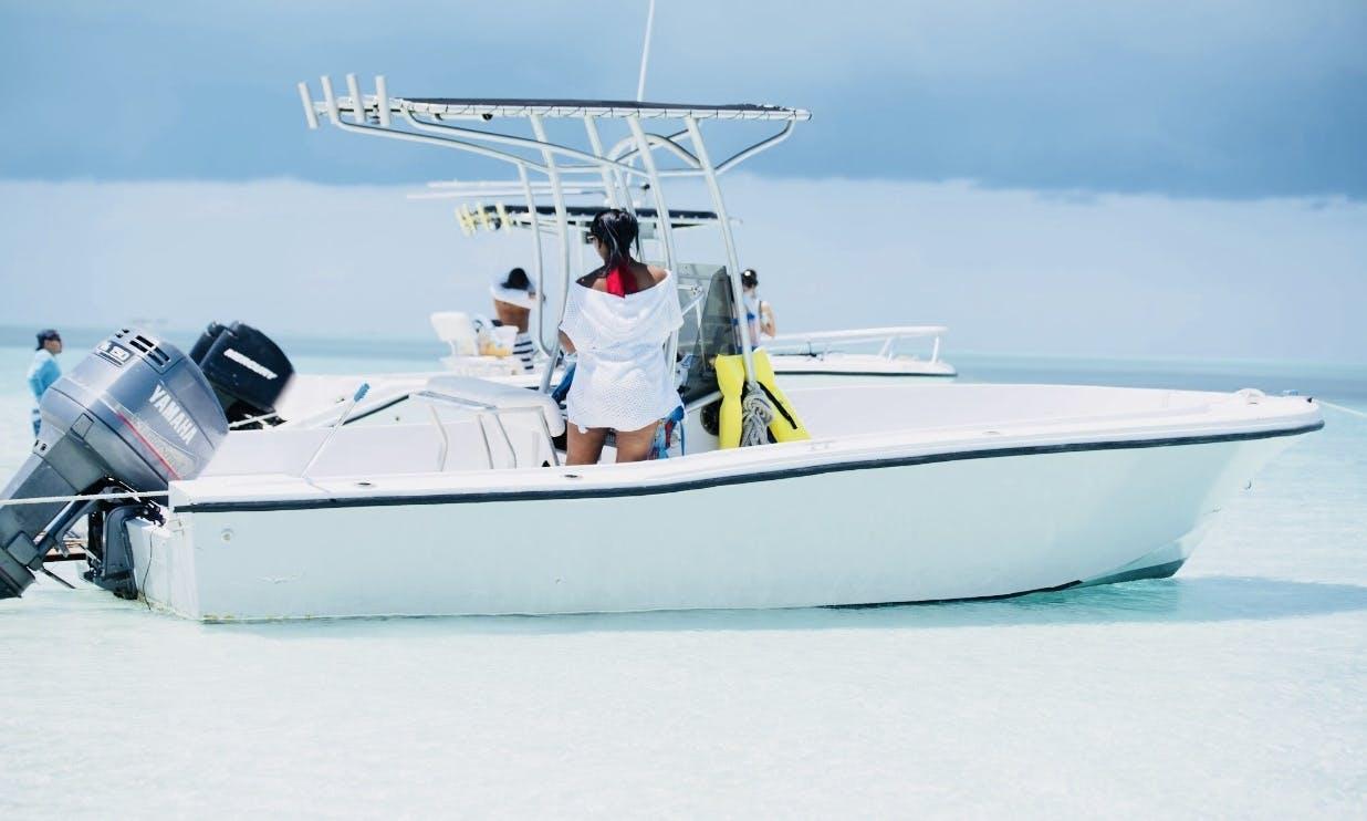 Snokerling, Fishing, Cruising on 22' Mako Center Console in Nassau