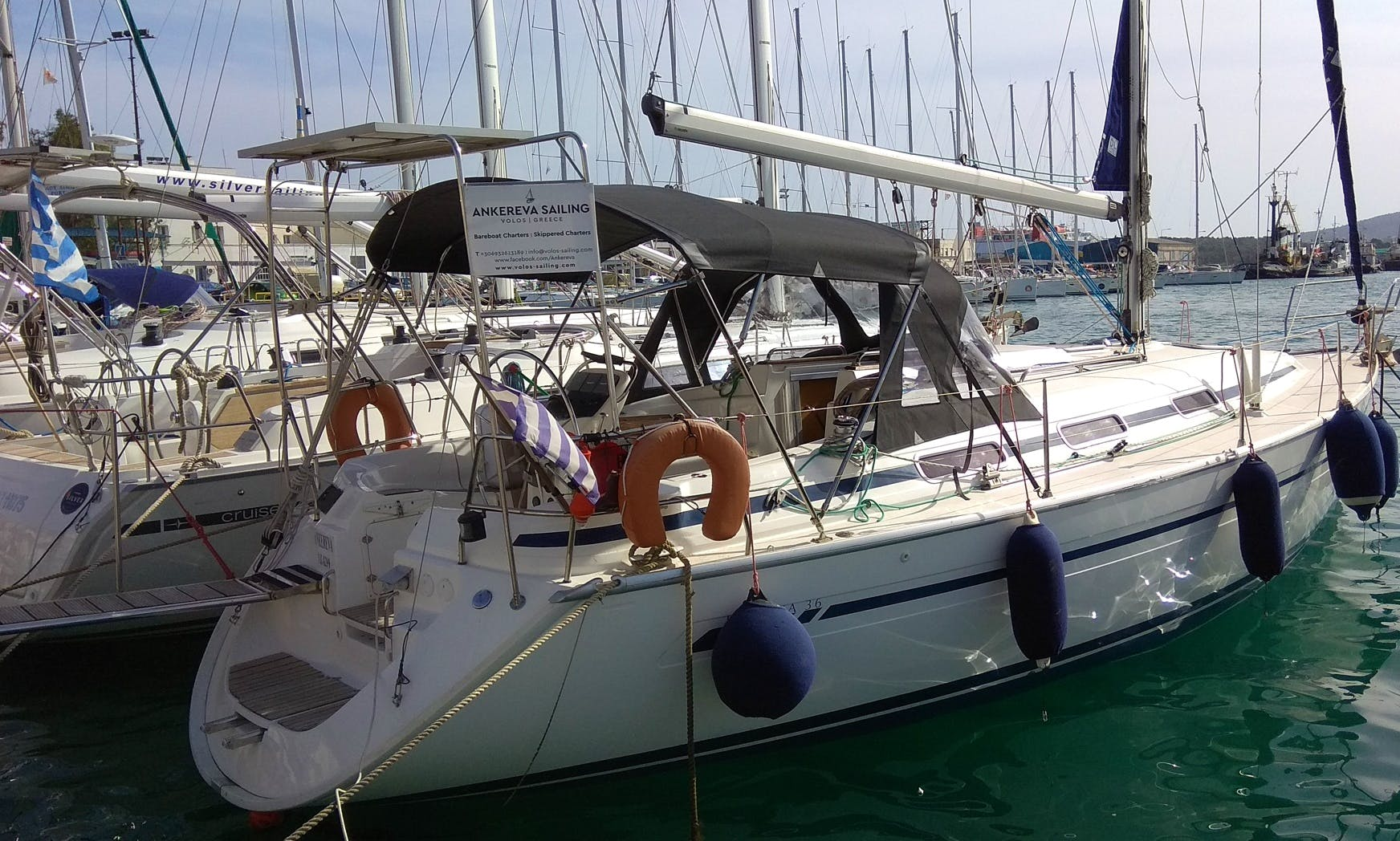 "Charter On ""Ankereva"" a Bavaria 36ft Sailing boat In Volos or Skiathos, Greece"