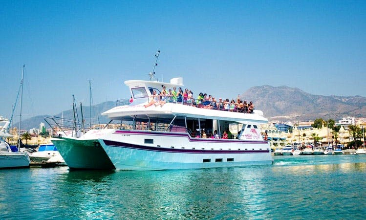 Power Catamaran Party Boat Charter in Benalmadena, Spain