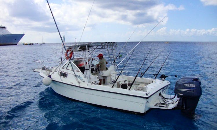 23' Celebrity Fish Hawk Cuddy Cabin Fishing Charter in Quintana Roo, Mexico
