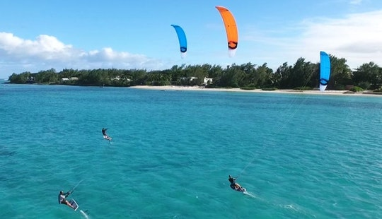 Book A Fun & Exhilarating Kiteboarding In Pointe D'esny, Mauritius