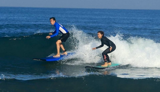 Safe And Fun Surfing Lessons In Bali, Indonesia!