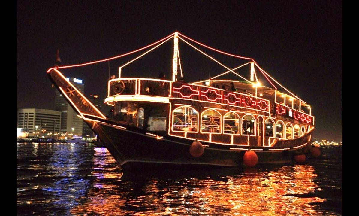 4 Stars Dhow Cruise Dinner in Deira Creek