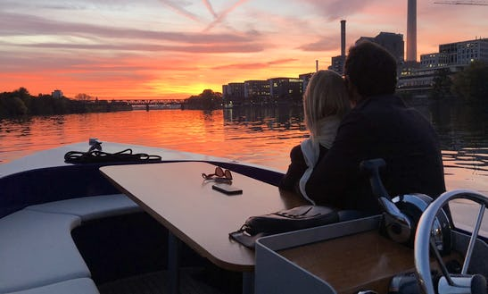 Your Personal Boattour On A Drivinglicense Free Picnic Boat In Frankfurt, Germany