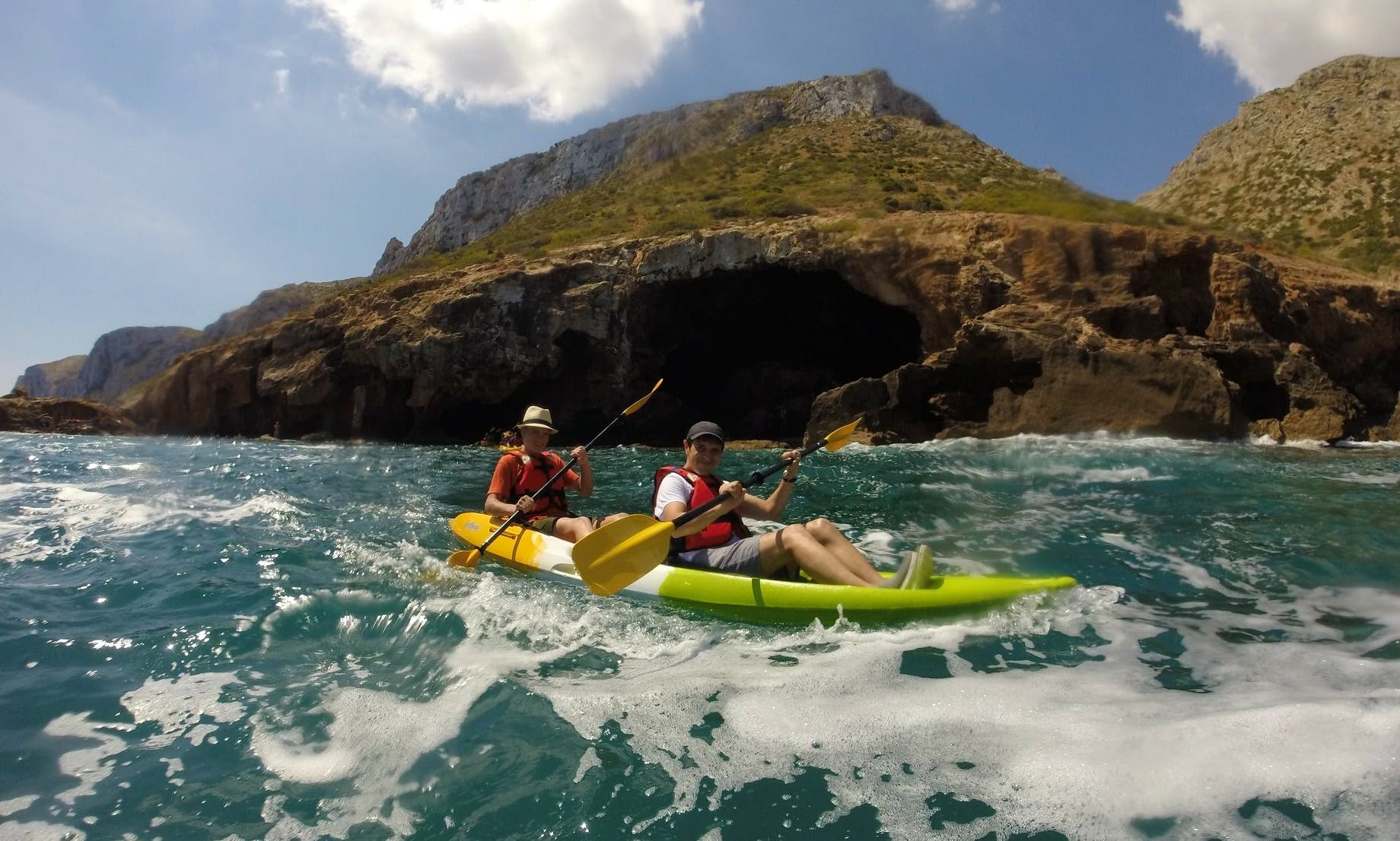 Kayaking in Denia, Spain