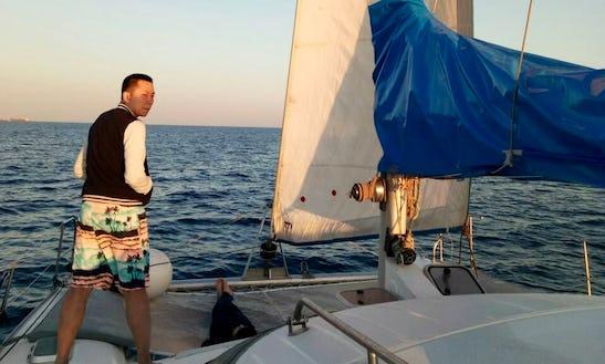 Cruising Catamaran Rental In Santorini