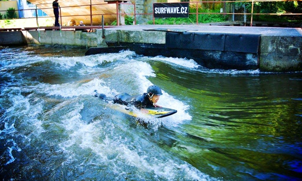 River surfing in Prague