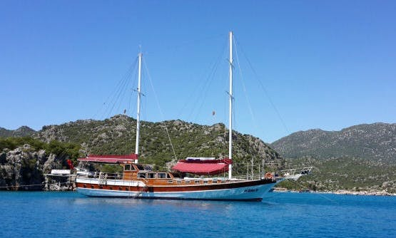 3 Days / 2 Nights Cruise On-board a Gulet for Up to 12 People in Antalya, Turkey
