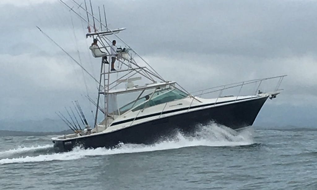 Quepos Fishing Charter on 38' Bertram Sportfisher Yacht