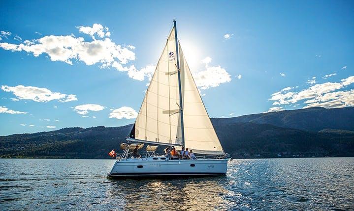 "Okanagan's Most Prestigious Sailing Tours on 36ft ""Yacht Life"" Sailing Yacht"