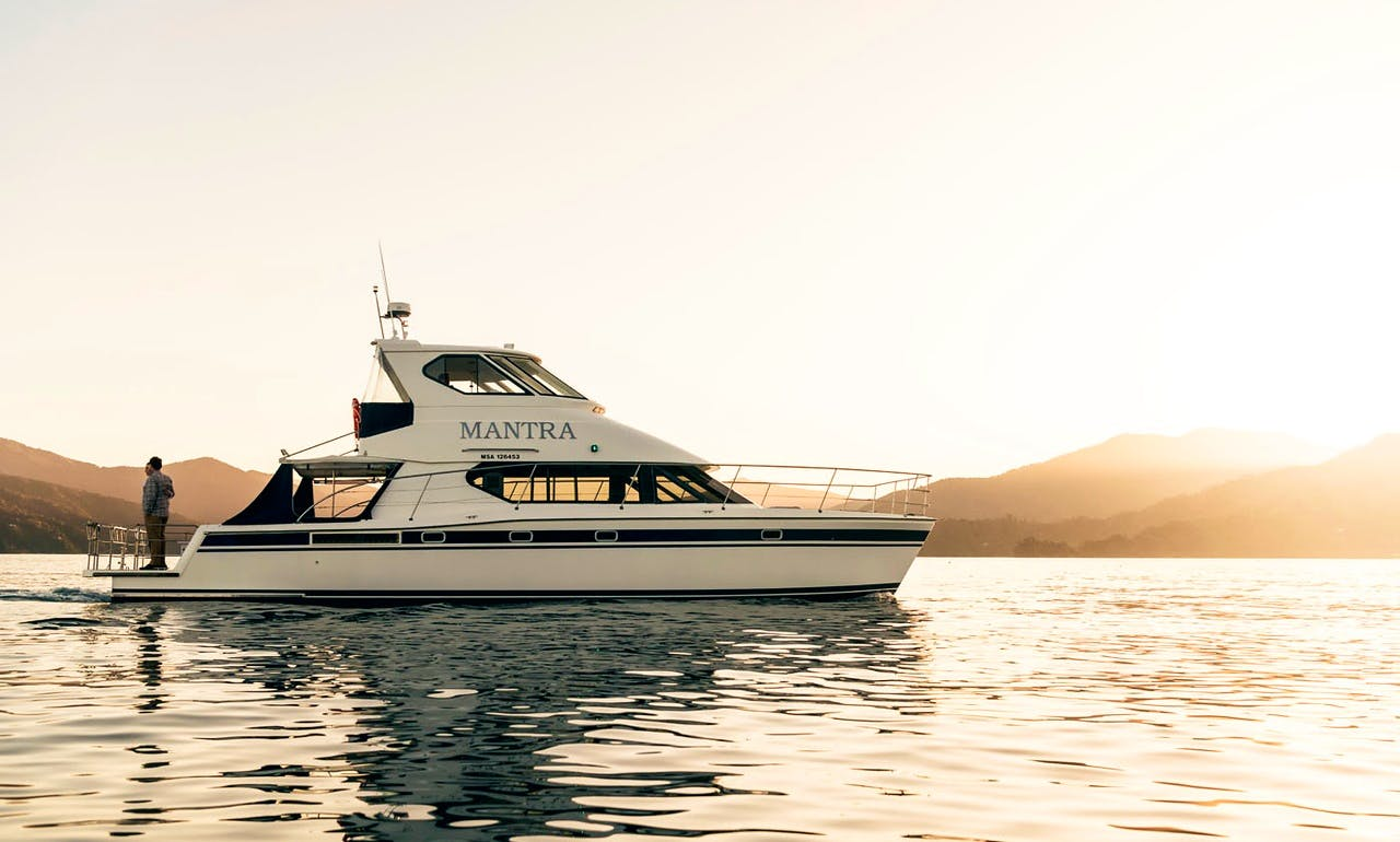 MV Mantra 46 ft Power Catamaran Charter for 20 People in Picton, New Zealand