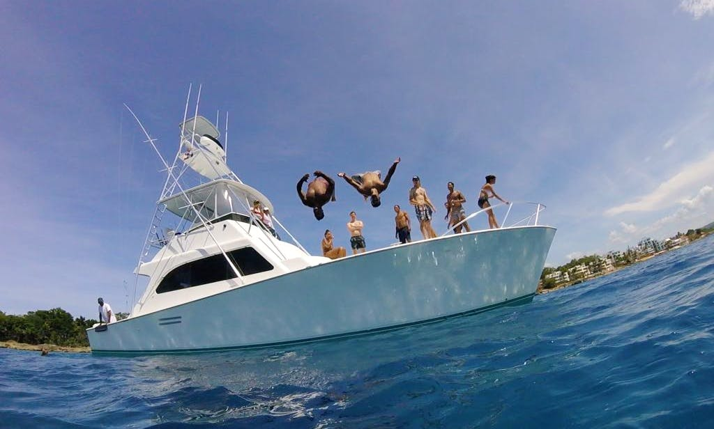 Private Charter on 50' Luxury Yacht in Sosua Bay, near Puerto Plata