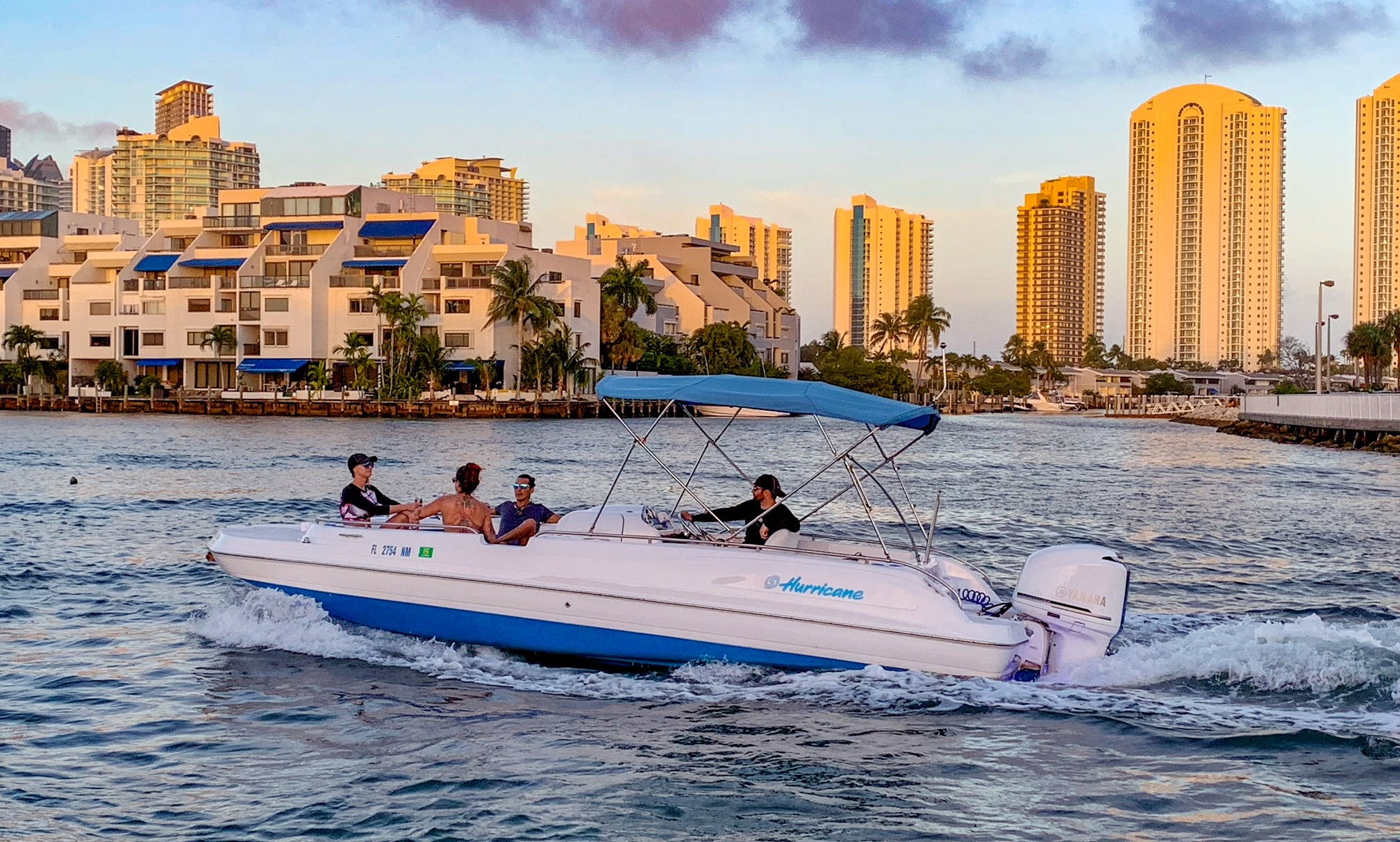 $100 per hour w/ Captain, Up To 11 People! Day/Night Cruise
