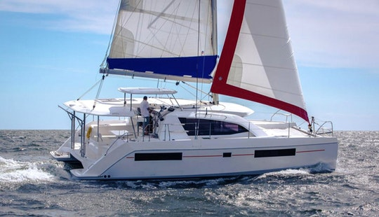 Venture The Sea Aboard The 39' Sailing Catamaran In British Virgin Islands