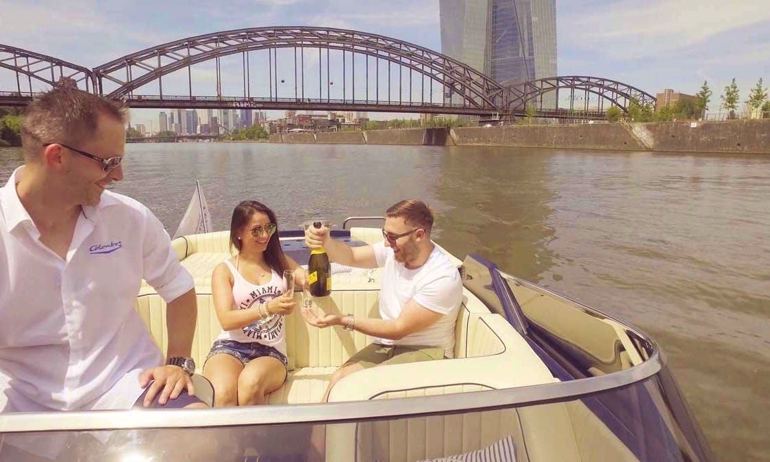 LUXURY Romantic Boattour with a italian Classic Boat in Frankfurt am Main, Germany