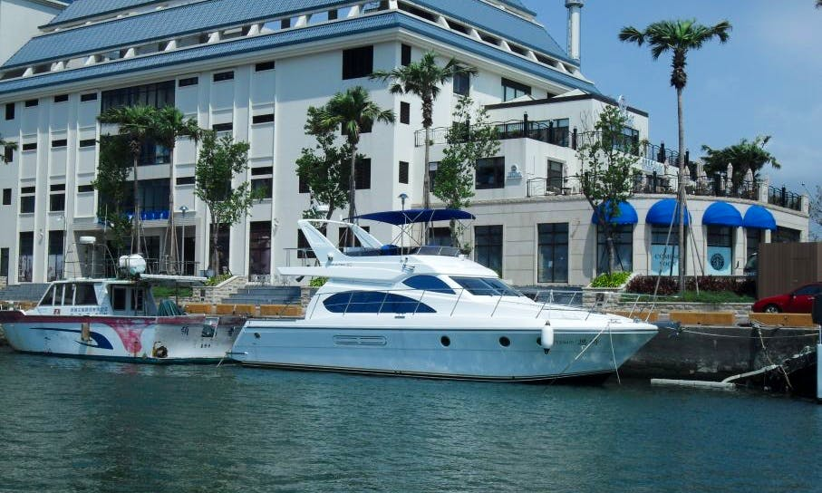 50' Luxury Yacht for 14 people at Tamsui Fisherman's Wharf, Taiwan