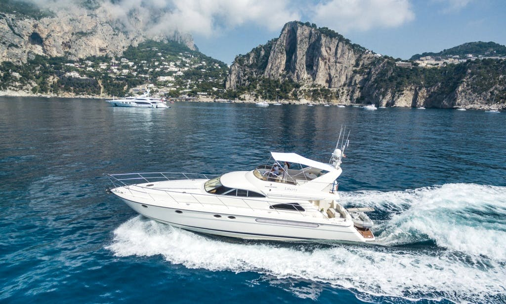 Fairline Squadron 59 Motor Yacht Charter for Up to 12 People in Sorrento, Italy