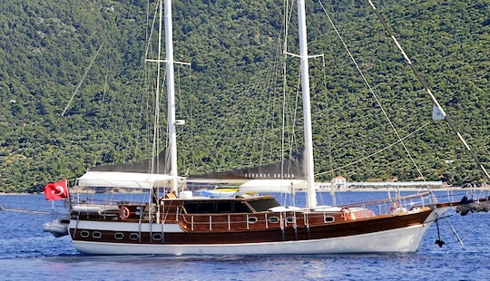 Captained 78' Sebahat Sultan Gulet Charter For Up To 10 Poeple In Bodrum, Turkey