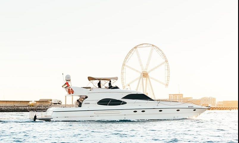 70' Prime Power Mega Yacht Rental in Al Garhoud, Dubai for 30 person!