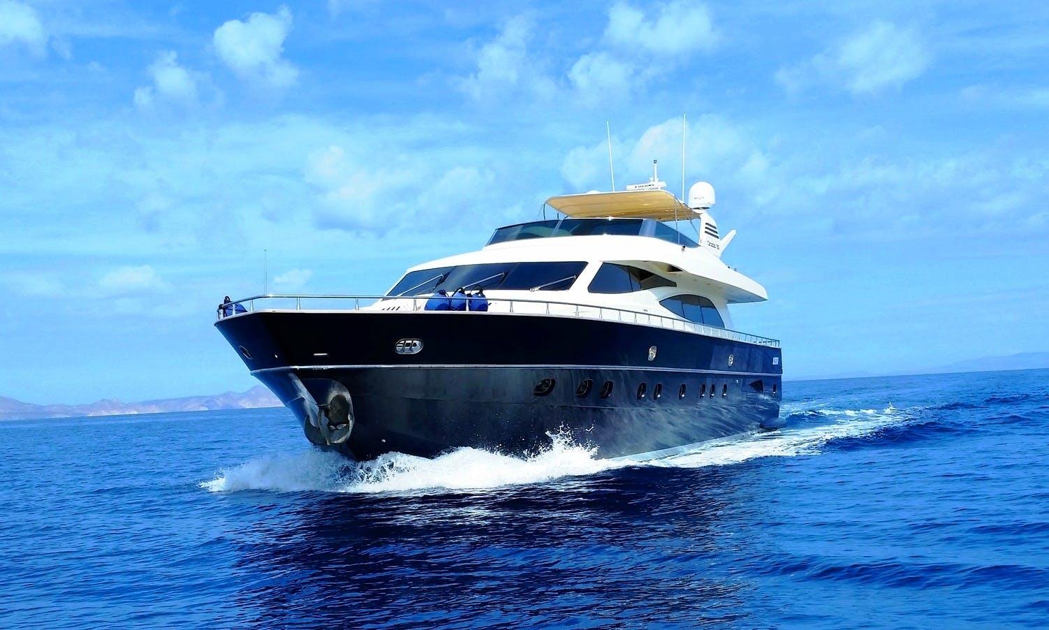 Luxurious 90' Canados Power Mega Yacht Charter in Cabo San Lucas, Mexico