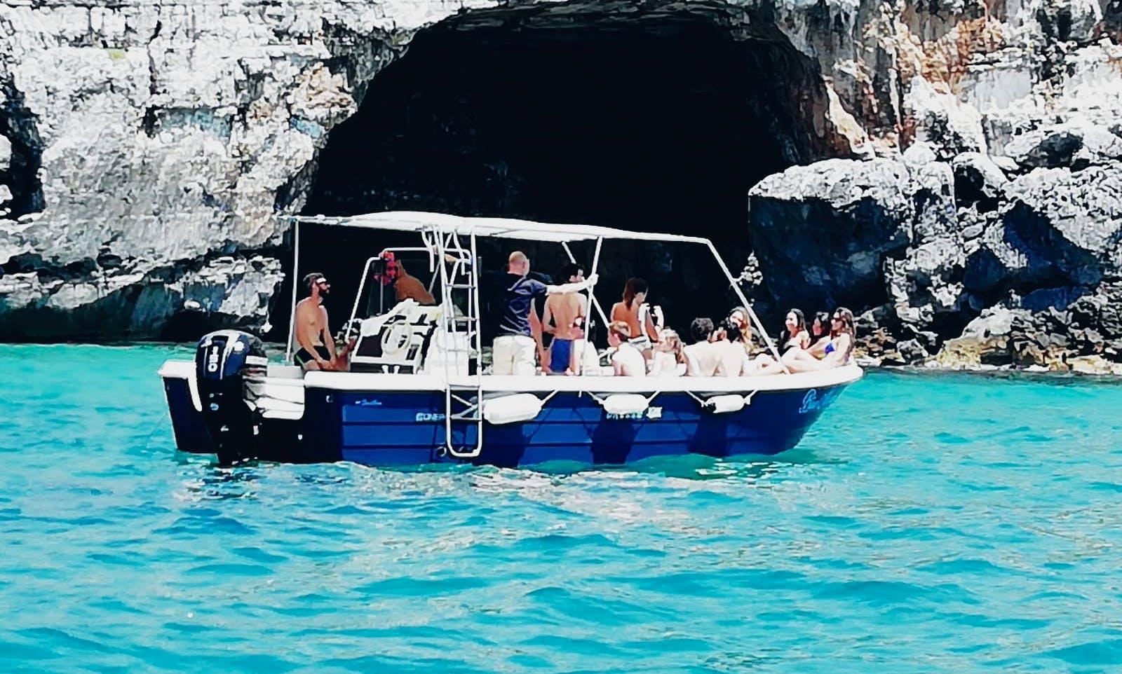 Visita in barca alle grotte di Leuca lit. Ionio/Adriatico