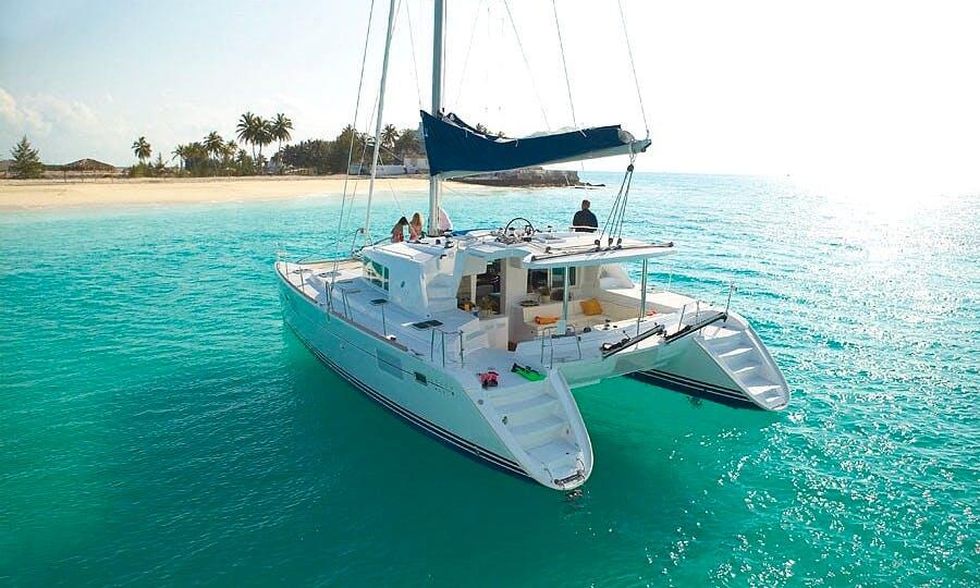Cruising Catamaran owner's version in beautiful Abaco Island, Bahamas.