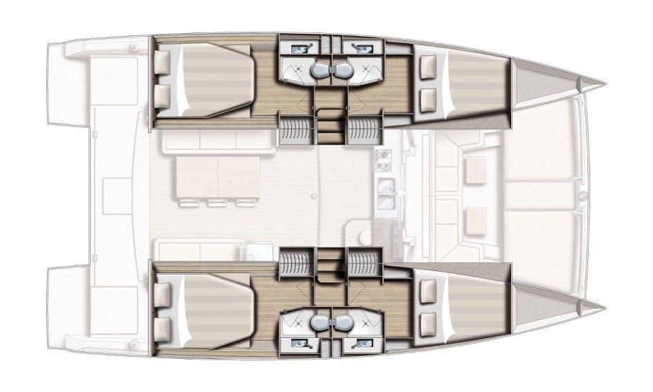 Cruising Catamaran rental INSAIL BALI 4.0 in IBIZA, FORMENTERA, MALLORCA OR MENORCA (BALEARIC ISLANDS)